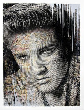 シルクスクリーン Mr. Brainwash - Elvis – King of Rock Silver
