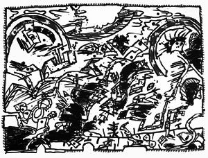 リトグラフ Alechinsky - En fait (Etat en noir)