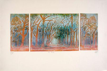 エッチングと アクチアント Robert - En forêt