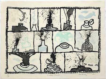 彫版 Alechinsky - Encriers témoins