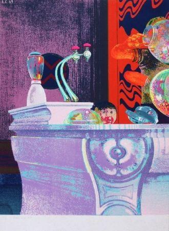 シルクスクリーン Cremonini - Enfant au bar