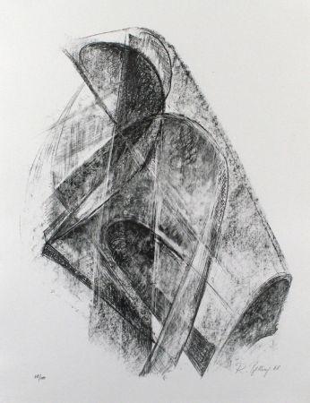 リトグラフ Belling - Entwurf für eine Plastik