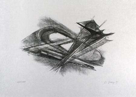 リトグラフ Belling - Entwurf für Metallplatten und Draht I