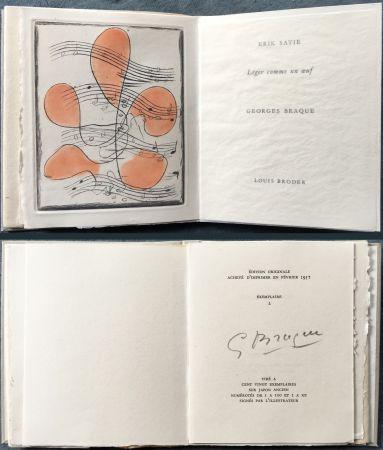 挿絵入り本 Braque - Erik satie : LÉGER COMME UN ŒUF. Une gravure originale en couleurs (1957)