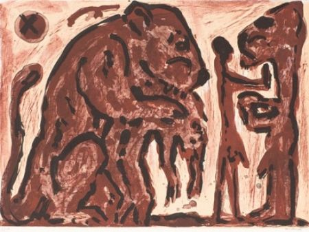リトグラフ Penck - Erinnerung unbekannt