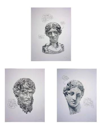 シルクスクリーン Arsham - Eroded Classical Prints (Portfolio of 3)