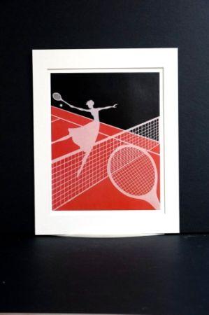 シルクスクリーン Erte - Erte - A Limited edition screen print after the Love and Tennis suite