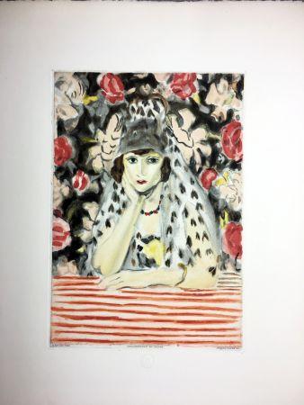 エッチングと アクチアント Matisse - ESPAGNOLE À LA MANTILLE (1925)
