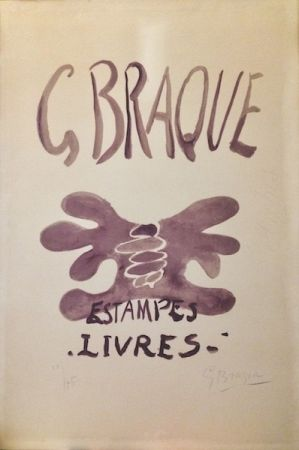 リトグラフ Braque - Estampes et livres. 1958.
