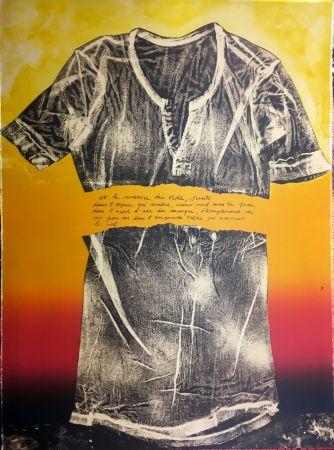 リトグラフ Recalcati - Et le sourire du vide…(Placard Bailly). Version en rouge. Lithographie de 1975