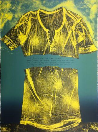 リトグラフ Recalcati - Et le sourire du vide…(Placard Bailly). Version en vert. Lithographie de 1975