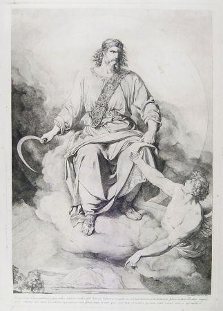 彫版 Sabatelli - 'ET VIDI, ET ECCE NUBEM CANDIDAM....' (St. John's Apocalypse, Chapter XIV)