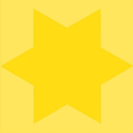 シルクスクリーン Mosset - Etoile jaune