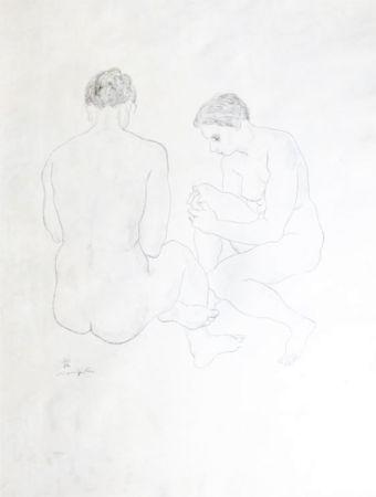 リトグラフ Foujita - Etude de Nus
