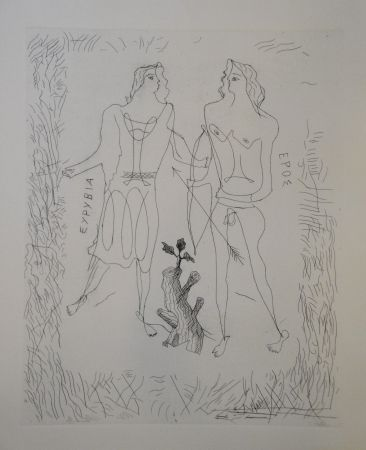 彫版 Braque - Eurybia et Eros.