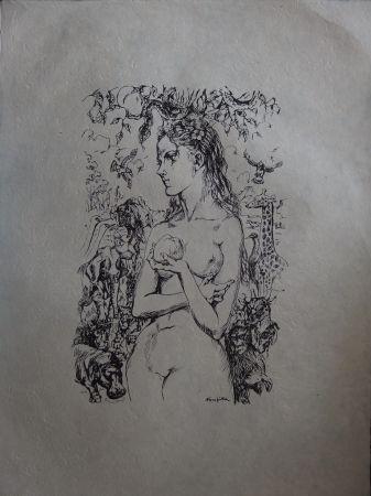 リトグラフ Foujita - Eve au Jardin d'Eden