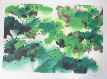 リトグラフ Po Chung - Evergreen moutain