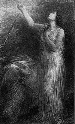 リトグラフ Fantin-Latour - Evocation d'Erda (3º planche)
