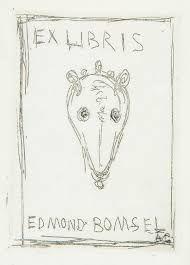 エッチング Giacometti - Ex libris du bibliophile Edmond Bomsel.