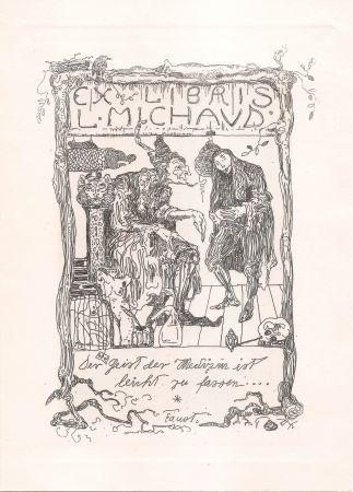 彫版 Klee - Ex Libris L. Michaud
