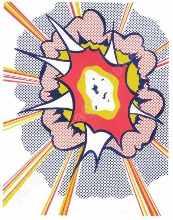 リトグラフ Lichtenstein - Explosion