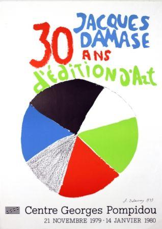 リトグラフ Delaunay - Expo J Damasse 30 Ans d'Edition d'Art