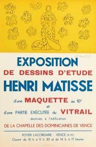 リトグラフ Matisse - Exposition de dessins d'étude ,Vence