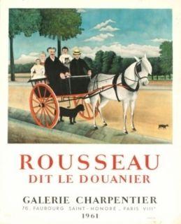 リトグラフ Rousseau - Exposition galerie charpentier