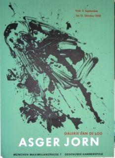 リトグラフ Jorn - Exposition Galerie VAN DE LOO