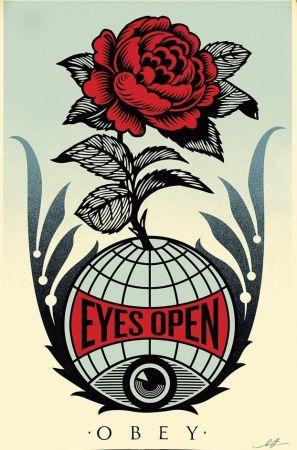 リトグラフ Fairey - Eyes Open