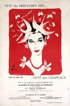 リトグラフ Gruau - Fête du Printemps,Fête des Chapeaux
