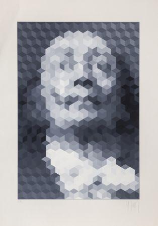 シルクスクリーン Yvaral - Face of Dali