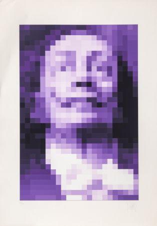 シルクスクリーン Yvaral - Face of Dali - Purple