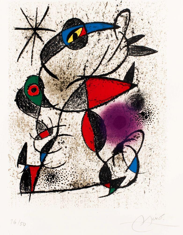 リトグラフ Miró -  Faillie du calcaire
