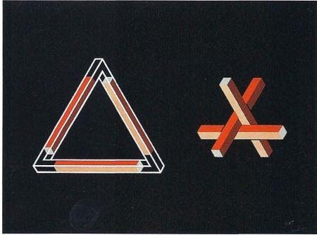 リトグラフ Molins - Falsaciones del triangulo de Penrose 10