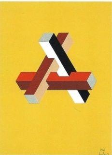 リトグラフ Molins - Falsaciones del triangulo de Penrose 11