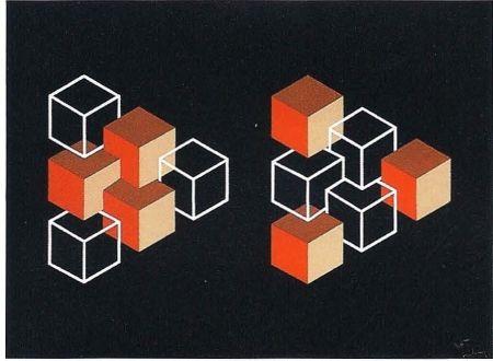 リトグラフ Molins - Falsaciones del triangulo de Penrose 5