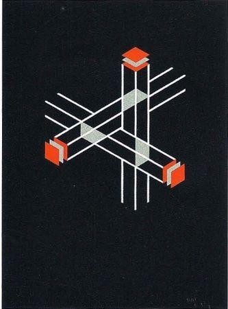 リトグラフ Molins - Falsaciones del triangulo de Penrose 9