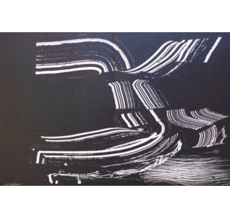 リトグラフ Hartung - Farandole D