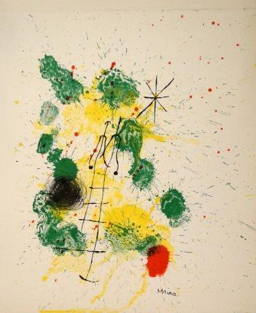"""リトグラフ Miró - Farblithographie für """"Kronenhalle 1862-1922-1962"""""""