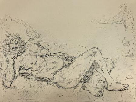彫版 De Chirico - Fauno addormentato