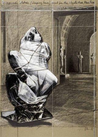 リトグラフ Christo - Fauno durmiente