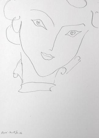リトグラフ Matisse - Femme