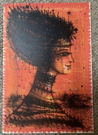 リトグラフ Carzou - Femme