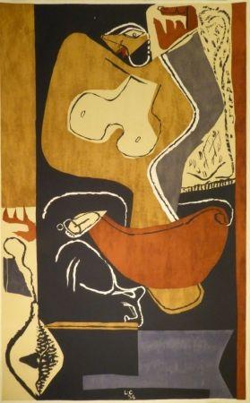リトグラフ Le Corbusier - Femme à la main levée