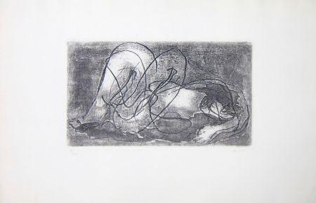 エッチングと アクチアント Fautrier - Femme étendue IV