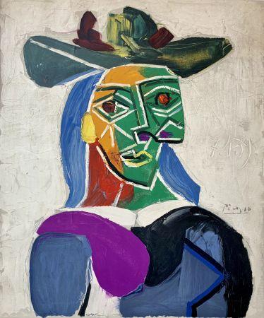 リトグラフ Picasso - Femme au Chapeau