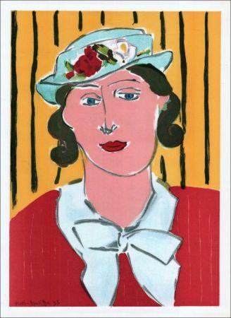リトグラフ Matisse - Femme au chapeau