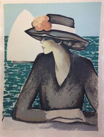 リトグラフ Cassigneul  - Femme au chapeau.
