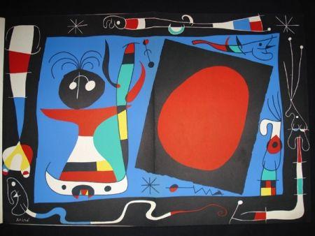 リトグラフ Miró - Femme au Miroir